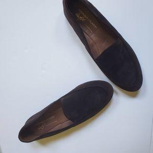 10   DONALD J PLINER   Leather Sole Suede Flats